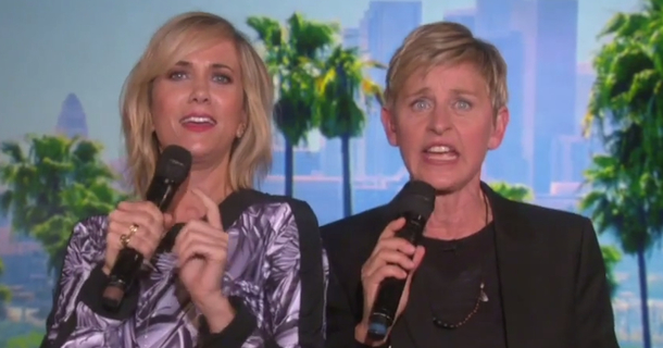 Kristen Wiig And Ellen DeGeneres Don't Actually Know The Lyrics To 'Let It Go'